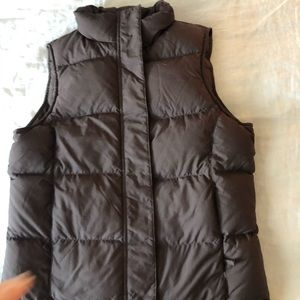 Brown puffer vest